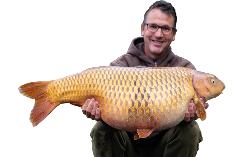 Bert Teuben, eigenaar van CarpFarm Lake